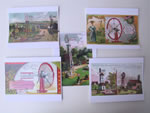 Windmill Scene Note Cards